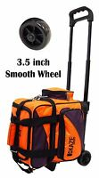 KAZE SPORTS 1 One Single Ball Bowling Roller Tote Bag Smooth Wheel Orange-Purple