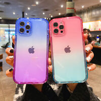 For iPhone 12 Mini 11 Pro Max XS XR 8 7 360 Full Gradient Clear Soft Case Cover