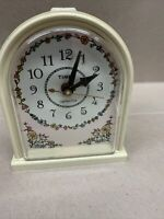 Vintage TIMEX Alarm Clock with Dial Model 7404-4A  USA Floral