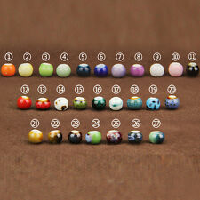 50/100/200Pcs Lots 6MM Ceramic Loose Beads DIY Necklace Bracelet Jewelry Making