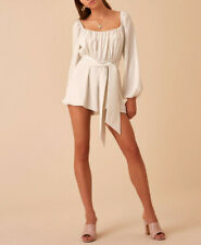 Finders Keepers Womens Authentic Kahlo Playsuit Cloud Size S
