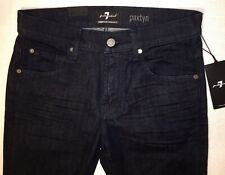 NWT 7 For All Mankind Mens Paxtyn Skinny Luxe Perf Jeans in Deep Well 30W/ 31Ins