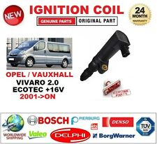 FOR OPEL VAUXHALL VIVARO 2.0 ECOTEC +16V 2001-ON IGNITION COIL 2PIN CONNECTOR