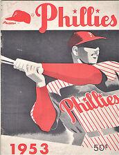 1953--PHIL. PHILLIES (ROBERTS-ASHBURN-SIMMONS-WAITKUS)-ORIGINAL YEARBOOK--NMT