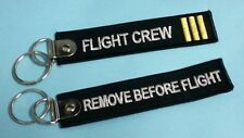 ONE Embroidery Keychain Flight Crew Remove Before Flight Aviation Airline