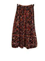 Vintage EMILIO PUCCI Multi-Color Geometric Pattern Long Velvet Skirt