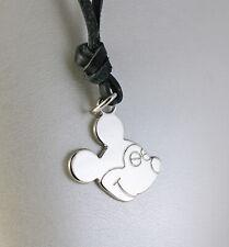 Pendant Bullies & Pupae Bijoux Brass Rhodium Shaped Mickey Mouse