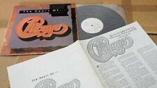 """CHICAGO THE HEART OF CHICAGO 1990 KOREA VINYL LP 12"""" w/INSERT"""