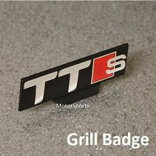 Front TTS Grill Car Badge Chrome Red Black Emblem Decal Logo Audi Grille (ttsg)