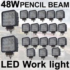20X 48W LED Work Light Spot Pencil beam Lamp 12V 24V off road car Truck 4WD UTE