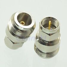 1pce N female jack to F male plug RF coaxial adapter connector 50ohm
