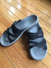 Merrell Women's Black Slip On Slides Sandals - US 9 (EU 40) Excellent Condition