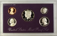 1990 Us Mint 5 Coin Proof Set as Issued
