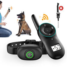 Rechargeable Dog Shock Training Collar LCD Remote Control Waterproof Anti Bark