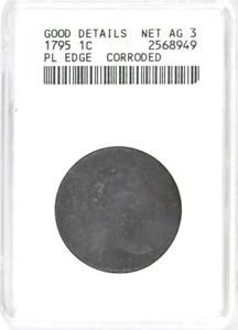 1795 Flowing Hair Large Cent Plain Edge  ANACS Good Details