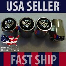 Transformers Logo Valve Stem Caps Covers Chromed Roundel Wheel Tire Car Auto USA