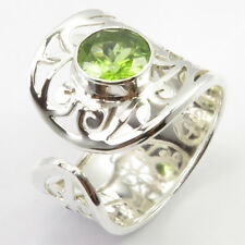 Ladies Handcrafted Jewelry Peridot Ring Sz 10 925 Solid Silver