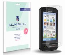 iLLumiShield Matte Screen Protector w Anti-Glare/Print 3x for Nokia C6