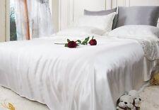 100% Seide Bettwäsche 4-tlg 80X80 Kissenbezug + 155X220 Bettbezug 16mm Weiß BD10