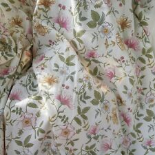 Unlined Honeysuckle Floral Country Cottage Unlined Curtains L52 x W64 Inches