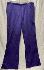 New listing Cherokee Workwear Grape Eggplant Purple Size Large Scrub Pants Style 4101