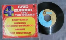 "ERIC BURDON & THE ANIMALS -MONTEREY / SHAKE- MEXICAN 7"" EP PS CLASSIC ROCK"