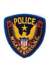 "Wilkesboro North Carolina Police Sheriff ""Star Over Golden Eagle"" Patch"