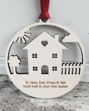 New home house warming gift decoration wood engraved MADE IN UK 12.5cm