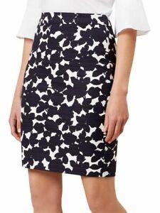 Hobbs Freya Black & White Pencil Skirt Size 10 UK