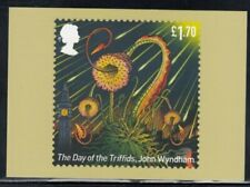 """Great Britain """"The Day of the Triffids"""" by John Wyndham Royal Mail Stamp Card"""