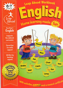 English Practice Book Leapahead Workwook Children Learn at Home School  6-7