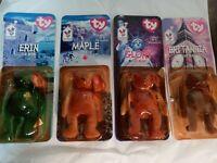 SET 4 NEW Ty Beanie Babies 1996-98 International Bears McDonald/'s MANY ERRORS