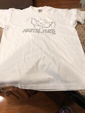 Vtg 1990s Fruit Of The Loom Single Stitch White Mental Floss T-shirt Gore. Xl