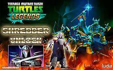 Teenage Mutant Ninja Turtles Legends game Android iOS SHREDDER UNLOCK + LVL 80