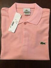 Lacoste Men's Classic Polo Shirt Bright Pink Brand NWT EU 7 US L