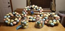 "Lot 3 New Martha Stewart Egg Wreaths 10""-13"" & 16""-19"" & 2 New Caged Eggs"