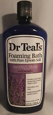Dr Teals Foaming Bath, Pure Epsom Salt, Soothe & Sleep with Lavender, 34 fl oz