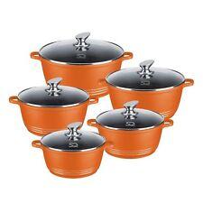 SQ Professional Nea Aluminium Die-cast Cooking Casserole set 5 pcs  Orange