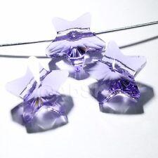 4 pieces Genuine Swarovski Element Crystal 5714 12mm Star Beads TANZANITE