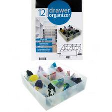 12 Section Drawer Organizer Socks Underwear Closet Home Storage Box Case Folds !