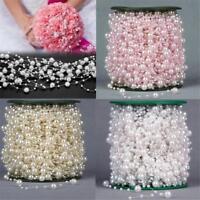 5M Acryl Hochzeit Perle Perle Kunststoff Garland Seil Hochzeit Dekoration,d B7X9
