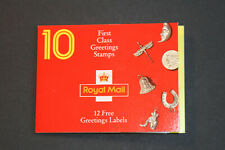 1991 10 First Class Greetings Stamps Booklet - Kx2