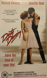 Dirty Dancing VHS Patrick Swayze Jennifer Grey Cynthia Rhodes 1989