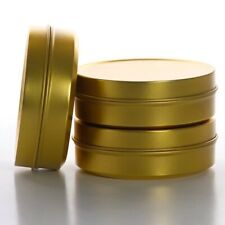 24 2Oz Gold Round Tins Candle Making and Crafts New