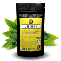 L-Theanine - 250mg Capsules - Supplement Found in Green Tea + FREE GIFT