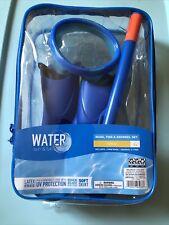 Water Sun & Fun Mask, Fins & Snorkel Set Child 4+  UV Lens Pool, Blue