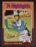 1975 Topps Hank Aaron Atlanta Braves #1 Baseball Card............AMAZING CARD!!!
