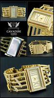 EXCLUSIVE DESIGN DAMEN LUXUS CAVADINI UHR IP-GOLD PLATTIERT SAMBA SERIE