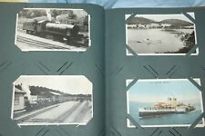 More details for old antique postcard album full -cumberland, ships, york scotland etc 132 cards
