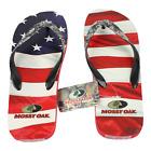 Mossy Oak Men's American Flag Camo Flip Flops Sandals Small 7-8 NWT Free Ship